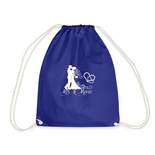 Mr & Mme - Couple romantique silhouette blanche - Sac de sport léger