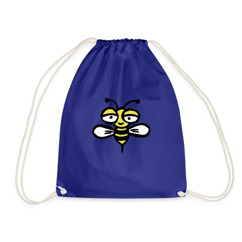 Be happy as a bee or wasp - Drawstring Bag