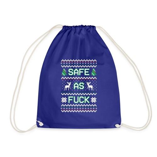 Christmas Jumper Safe AF - Drawstring Bag
