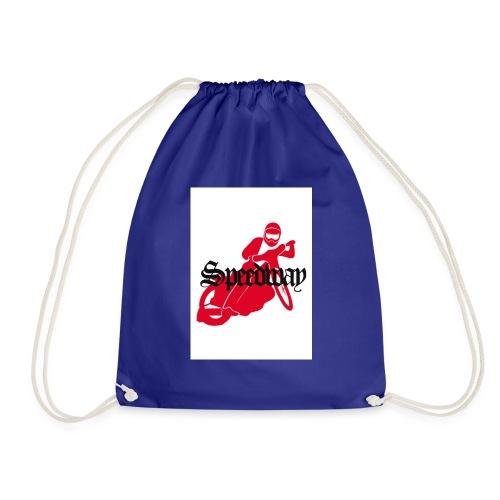 speedway red bike - Drawstring Bag