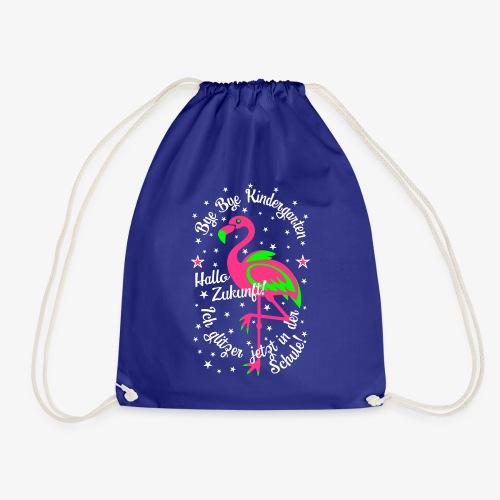 23 Flamingo Bye Kindergarten Ich glitzer in Schule - Turnbeutel