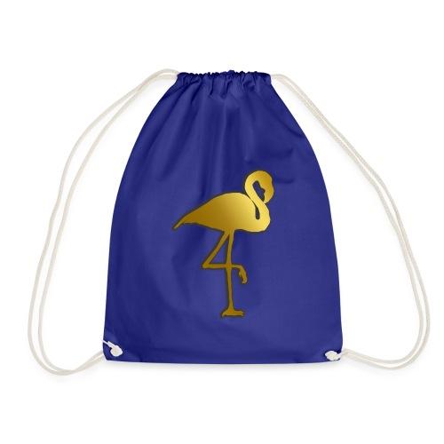 Goldener Flamingo - Turnbeutel