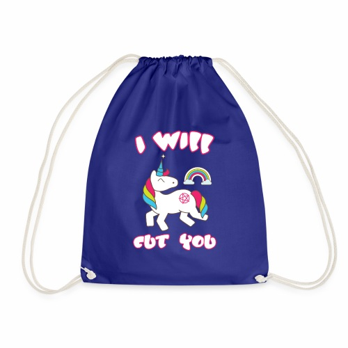 I WILL CUT YOU UNICORN NEW - Drawstring Bag