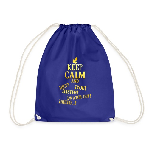 Keep Calm and Navi - Mochila saco
