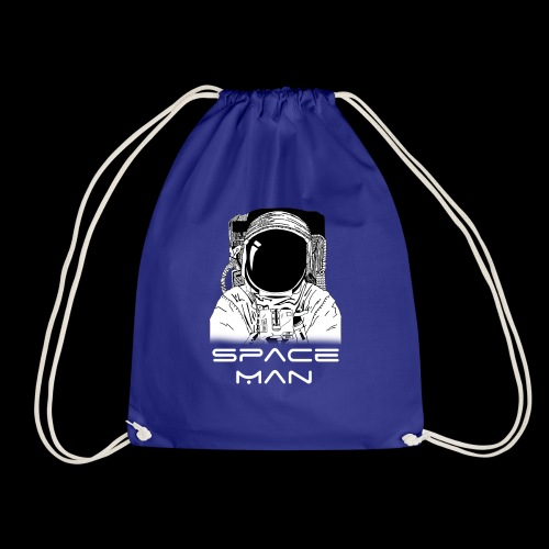Space man white - Drawstring Bag