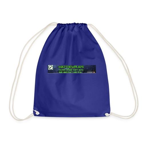 White YouTube Banner Tee - Drawstring Bag