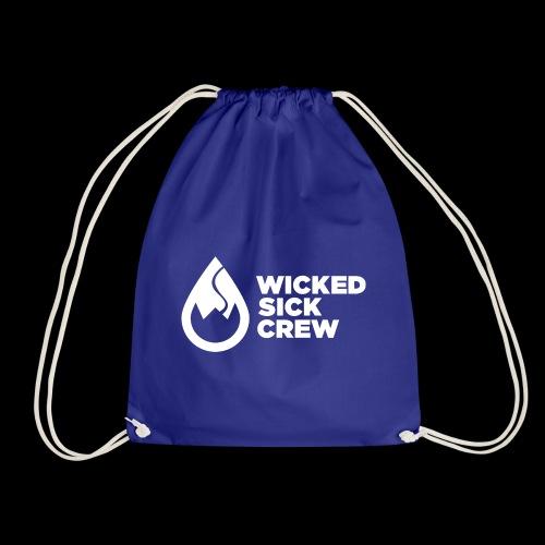 Wicked Sick Crew Logo weiß - Turnbeutel