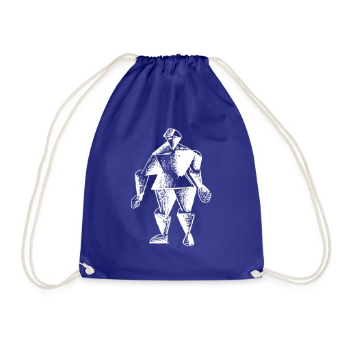 White Robot Knight - Drawstring Bag