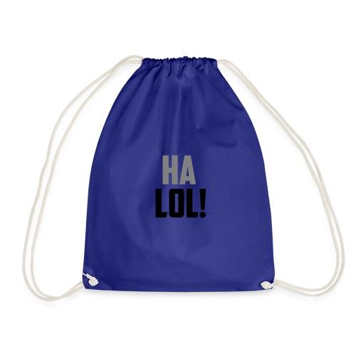 The CrimsonAura 'Ha LOL!' Stream Quote. - Drawstring Bag