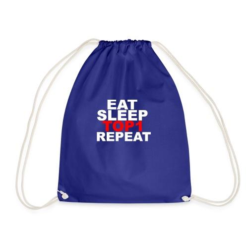 EAT SLEEP TOP 1 REPEAT - Sac de sport léger