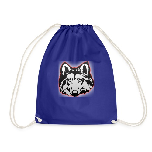 Wolfie (Red) - Drawstring Bag