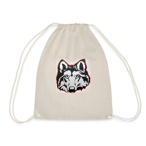 Wolfie (Red) - Drawstring Bag