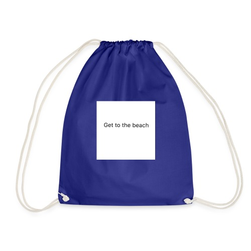 dog bandana get to the beach - Drawstring Bag