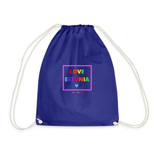 LOVE ESTONIA rainbow - Drawstring Bag