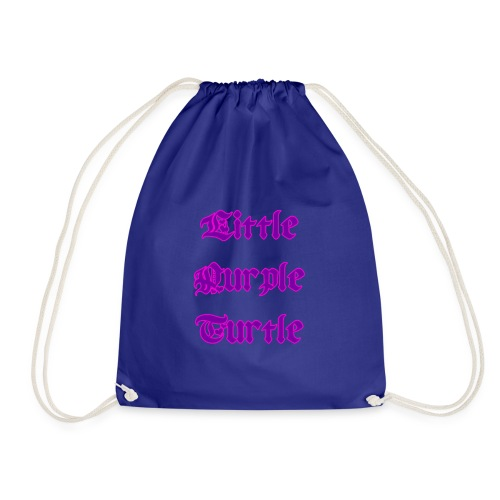 Little Purple Turtle - Drawstring Bag