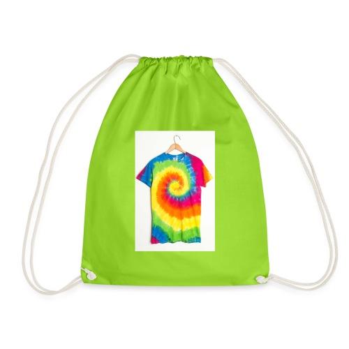 tie die small merch - Drawstring Bag