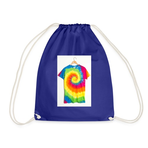 tie die small merch - Drawstring Bag