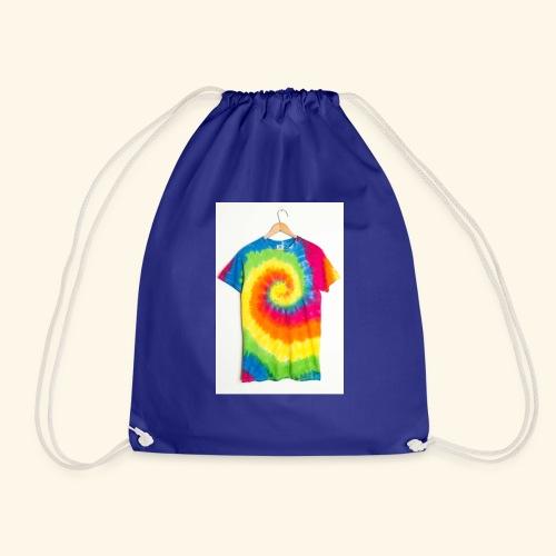 tie die - Drawstring Bag