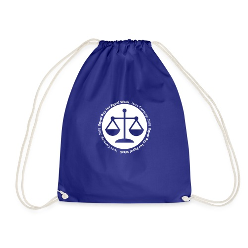 Plain white logo - Drawstring Bag