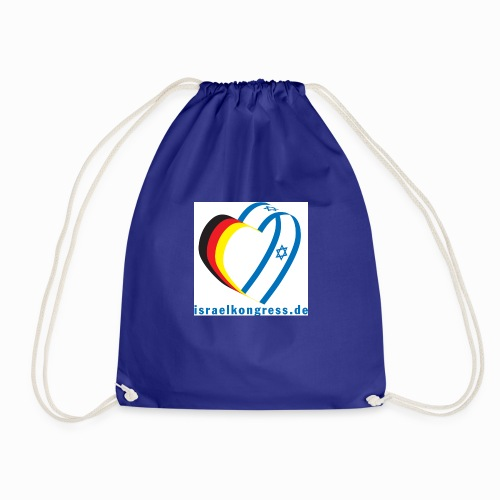 Deutscher Israelkongress Herz Logo - Turnbeutel