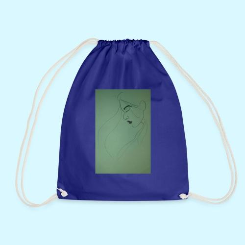 side profile - Drawstring Bag