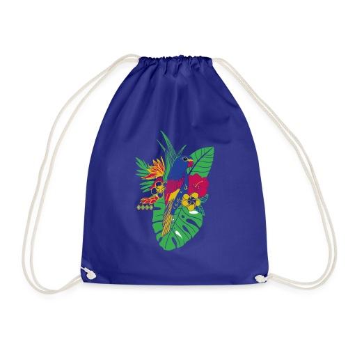 gaya flower parrot - Turnbeutel
