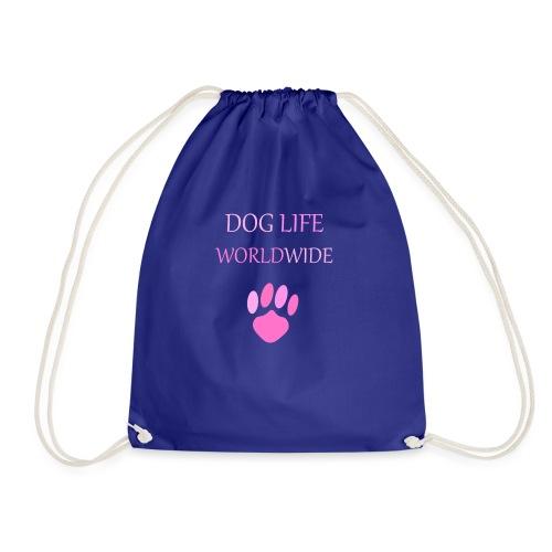 Pink Paw Print - Drawstring Bag