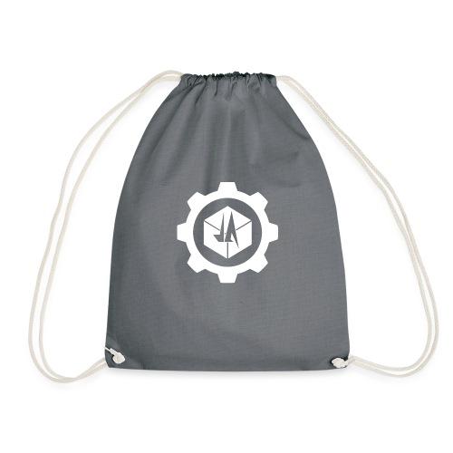 Jebus Adventures Cog White - Drawstring Bag