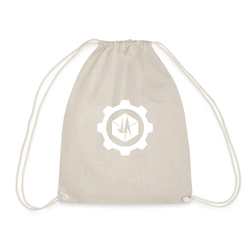 Jebus Adventures Cog White - Drawstring Bag