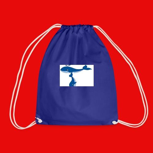 whale t - Drawstring Bag