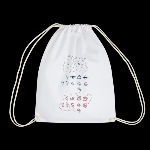 Overscoped concept logos - Drawstring Bag