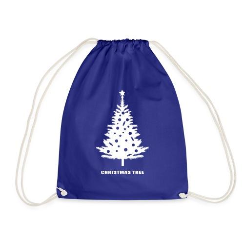christmas tree, christmas, new year, rockefeller - Drawstring Bag