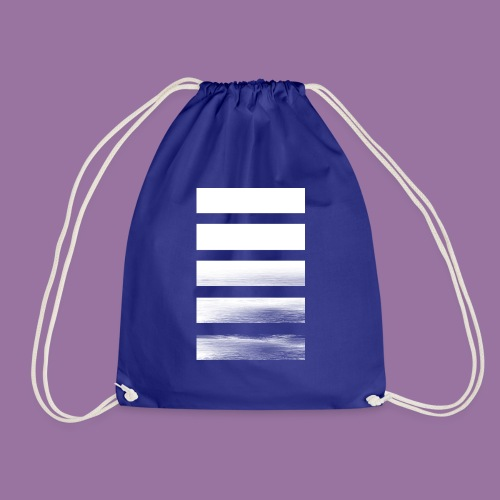 Stripes Horizontal White - Sacca sportiva