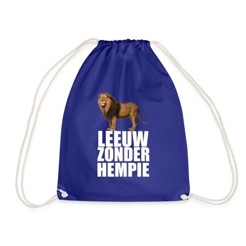 (Oranje) Leeuw Zonder Hempie - wit - Gymtas