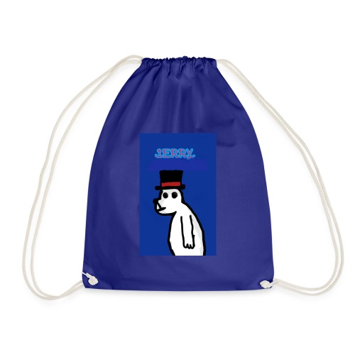 Jerry with tophat - Drawstring Bag