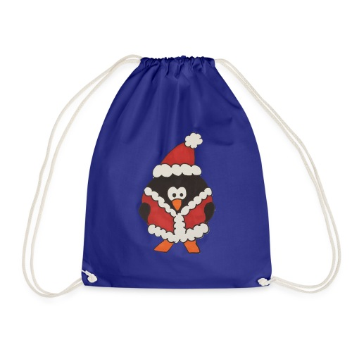 Christmas penguin t-shirt - Drawstring Bag