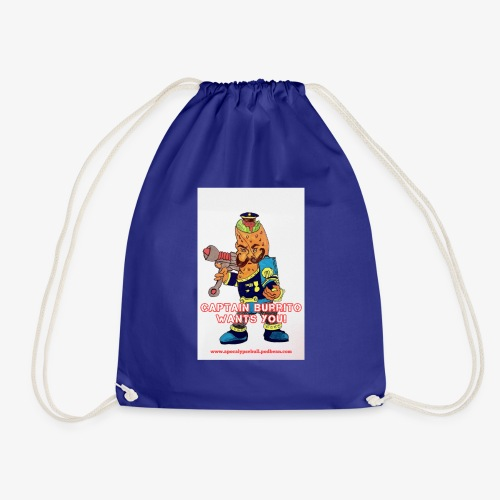 Captain Burrito - Drawstring Bag