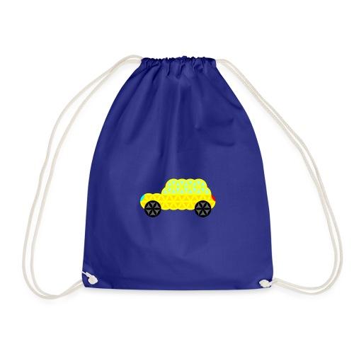 The Car Of Life - 02, Sacred Shapes, Yellow. - Drawstring Bag
