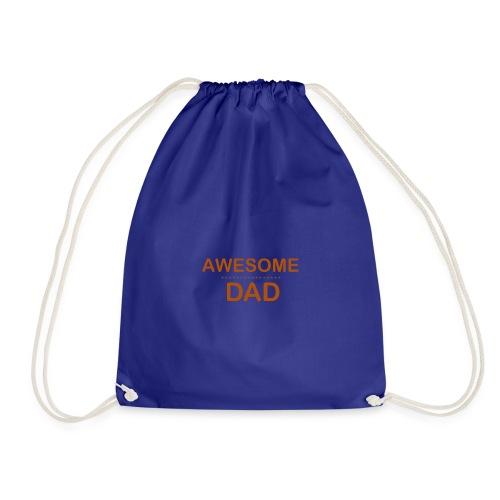awesome dad 1 - Drawstring Bag