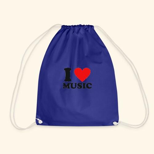 i love music - Drawstring Bag
