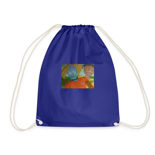 krishna red shirt - Drawstring Bag