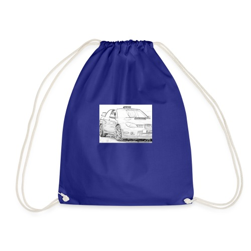 Iv car drawing - Drawstring Bag