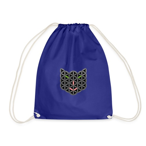 The Cat Of Life - Sacred Animals,B03, Pink smile. - Drawstring Bag