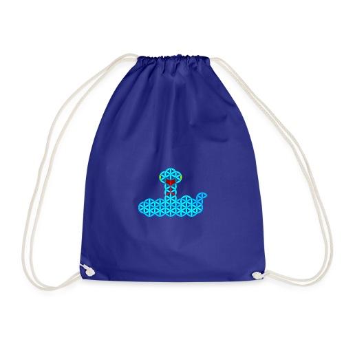 The Snake of Life - Sacred Animals - V/Blue - Drawstring Bag