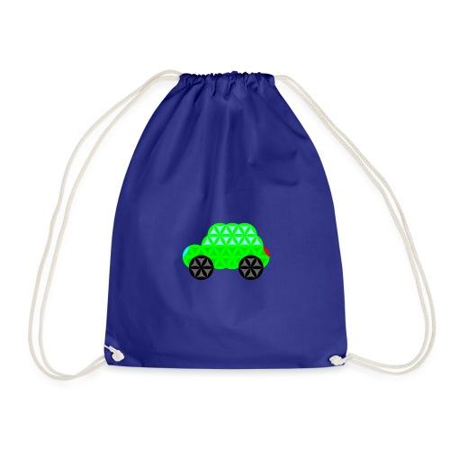 The Car Of Life - 01, Sacred Shapes, L/Green. - Drawstring Bag