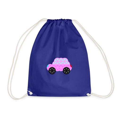 The Car Of Life - 01, Sacred Shapes, Pink. - Drawstring Bag