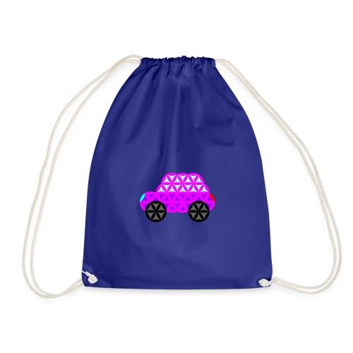 The Car Of Life - 01, Sacred Shapes, Purple. - Drawstring Bag