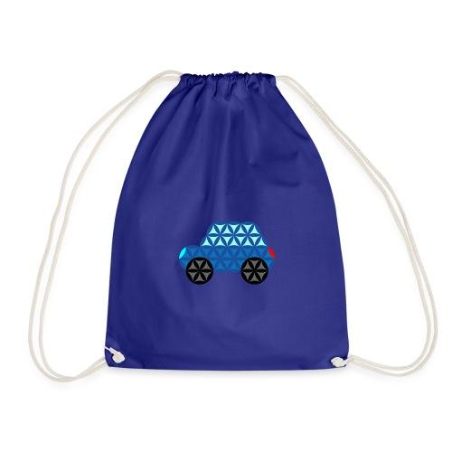 The Car Of Life - M01, Sacred Shapes, Blue/286 - Drawstring Bag