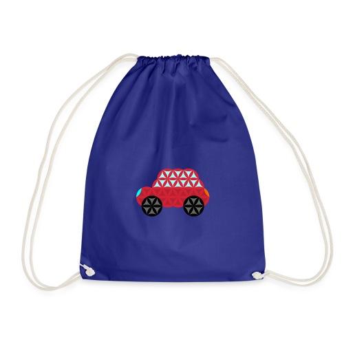 The Car Of Life - M01, Sacred Shapes, Red/186 - Drawstring Bag