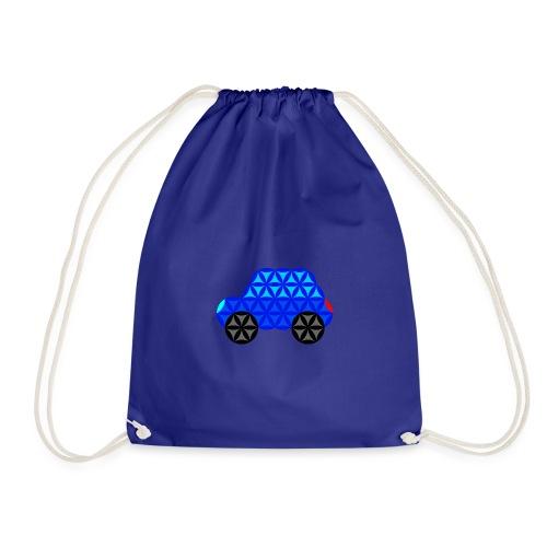 The Car Of Life - M01, Sacred Shapes, Blue/R01. - Drawstring Bag